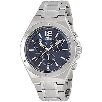 Lotus watch chronograph kvarts menn med rustfritt stål stropp 10118/3
