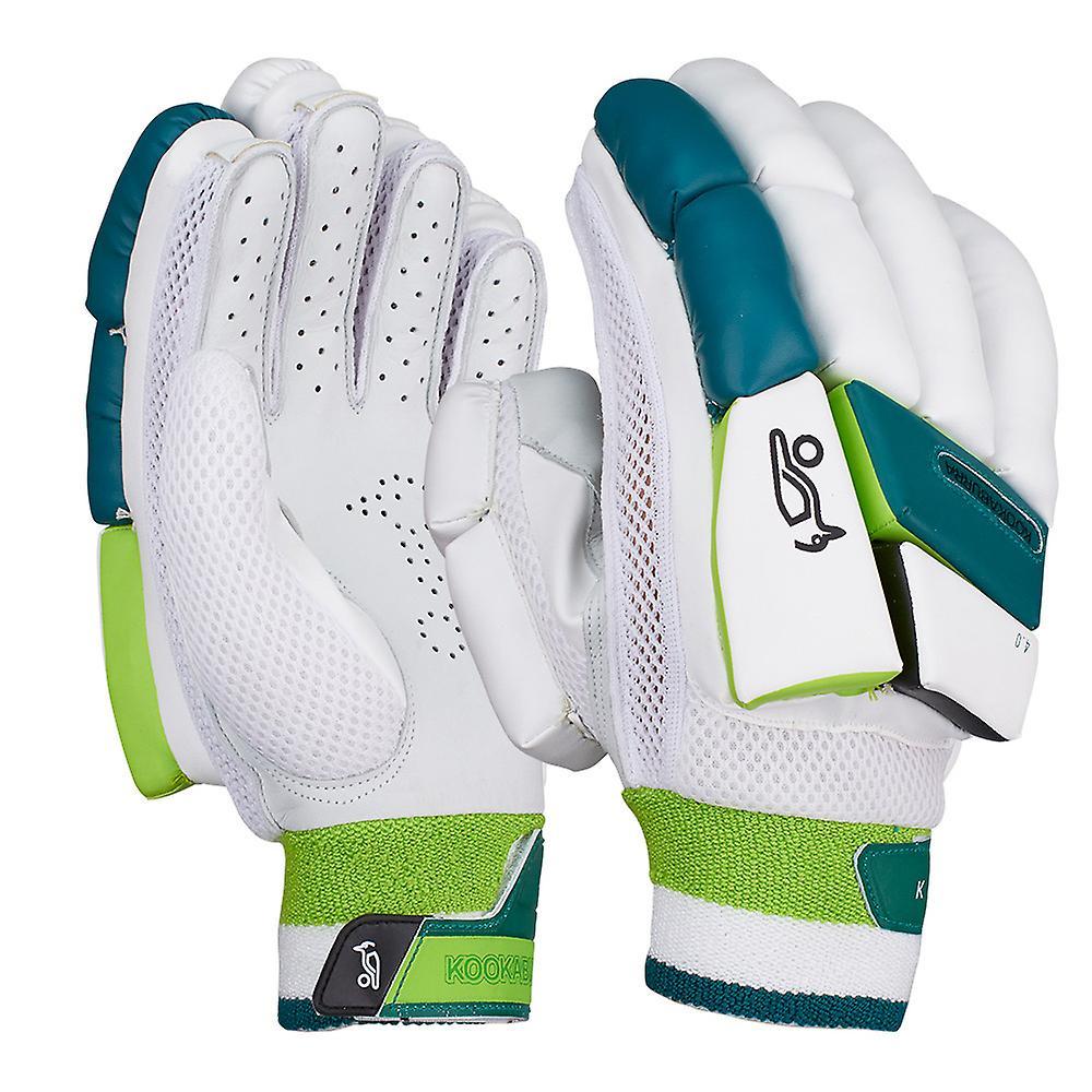 Kookaburra 2019 Kahuna 4.0 Cricket Batting Gloves White/Green