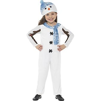 Snemand kids kostume