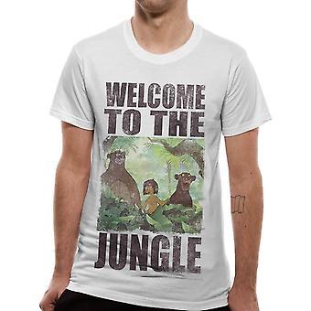 Άνδρες ' s Disney ζούγκλα βιβλίο Καλώς ορίσατε στη ζούγκλα λευκό T-shirt