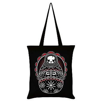 Grindstore Skeleton Matryoshka Tote Bag