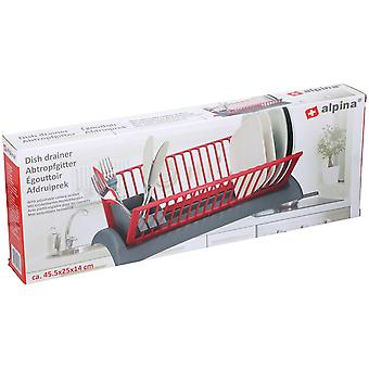 Dish Drainer Rack mit Tray und Cutlery Section Draining Compact Space Saver46x26x14