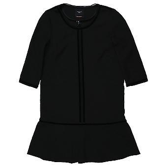 Maison Scotch svart tappade midja peplum klänning