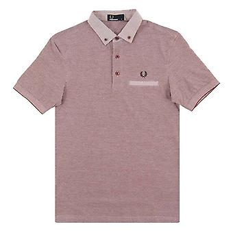 Fred Perry Mens Woven Trim Pique Short Sleeved Polo Shirt M1575-D60