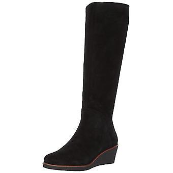 Aerosoles Womens Binokulært knæ læder lukket tå knæ High platform støvler