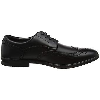 Hush Puppies Mens Cale Oxford Wing Tip Leather Shoes