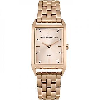 Français connexion Womens Mesdames Wrist Watch or Rose bracelet FC1296RGM