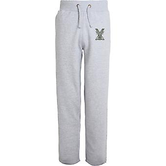 Highland Band Of The Scottish - Licensed British Army Embroidered Open Hem Sweatpants / Jogging Bottoms