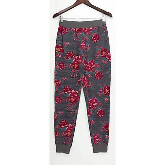 Pantaloni Denim & Co. Donne's XX Active Printed Francese Terry Gray A309341