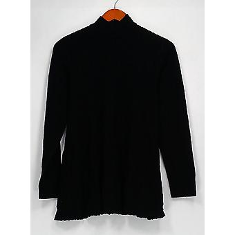 Joan Rivers Classics collectie top mock coltrui Swing tuniek zwart A298208