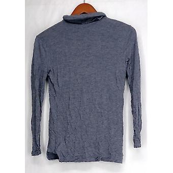 H by Halston Top XXS Long Sleeve Knit Turtleneck Blue A271080