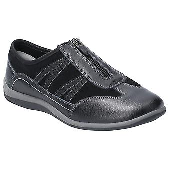 Fleet & Foster Womens Mombassa Leather Slip on Shoe Black