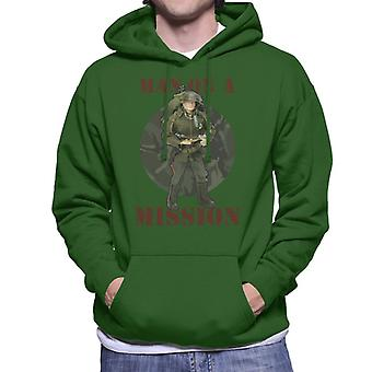 Action Man On A Mission Men's Hooded Sweatshirt