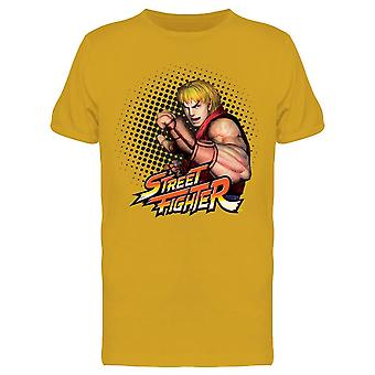 Street Fighter Ken tee Men ' s-Capcom designs
