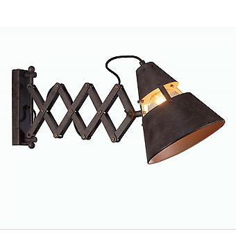 Mantra Industrial Extending Wall Light In Black Oxide
