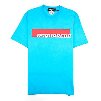 Dsquared2 Stripe Logo T-shirt Teal