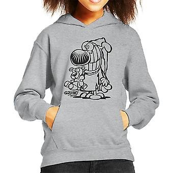 Grimmy Ready For Bed Kid's Hooded Sweatshirt