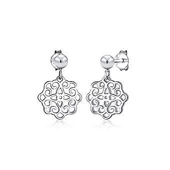 Elli Pendulum Earrings and Silver Woman Drop - 306672717