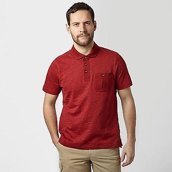New Brasher Men's Robinson Polo Short Sleeve T-Shirt Red