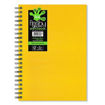 Artgecko Flashy Gecko All Media Sketchbook A4 (Yellow Cover)