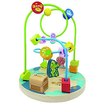 Classic World - Wooden Floor Standing Ocean Bead Maze Coaster for Kids, Toddlers 18mths +