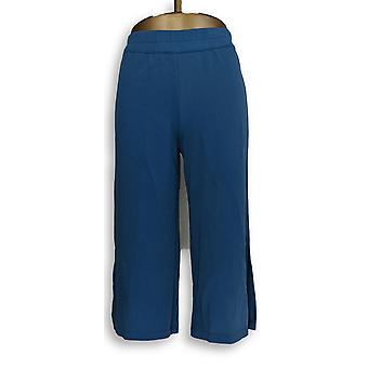 Joan Rivers Classics Collection Women's Petite Pants XXSP Textured Blue A304688