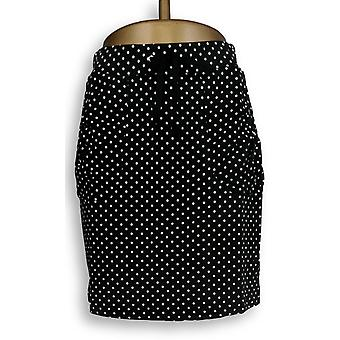 Susan Graver Skirt Weekend Printed French Terry Skort Black A232818