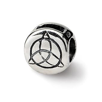 925 Sterling Silver Polished Reflections Celtic Trinity Bead Charm Pendant Necklace Jewelry Gifts for Women