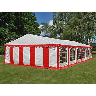 Partytent Exclusive 6x12m PVC, Rood/Wit