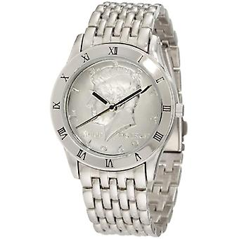 Augusti Steiner tonen mäns watch-armband, silver Kennedy Half Dollar