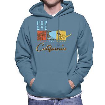 Popeye Land Sea Surf California Men's Hooded Sweatshirt