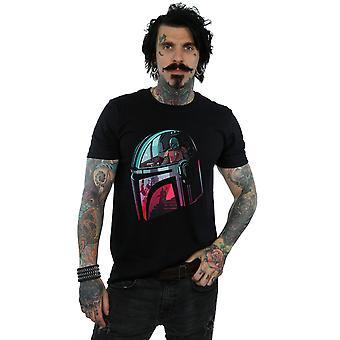 Star Wars Men's The Mandalorian Mandalore Helmet Reflection T-Shirt