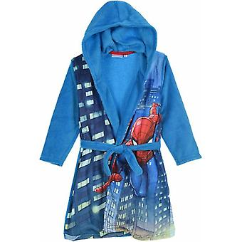 Boys HS2054 Marvel Spiderman Hooded Fleece Dressing Gown