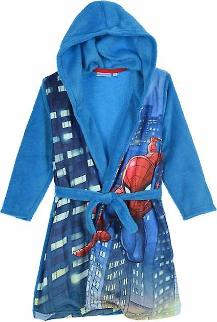Boys HS2054 Marvel Spiderman Hooded Fleece Dressing Gown