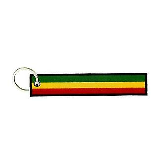 Cle Cles nyckel brode patch Ecusson flagga Brassard One Love Reggae
