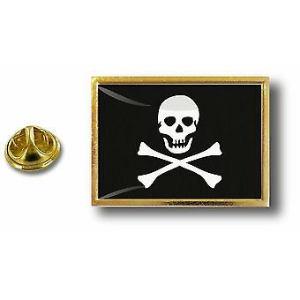 Kiefer Pines Abzeichen Pin-Apos; s Metall mit Schmetterling Pinch Flagge Piraten Jack Rackham