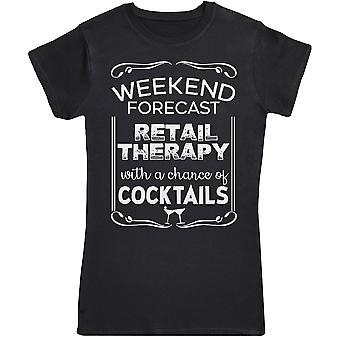 Weekend voorspelling retail therapie-Womens T-shirt