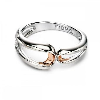 Fiorelli Silver Rose Folded Detail Ring R3408