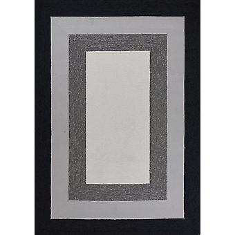 3' x 5' UV-treated Polypropylene Charcoal Area Rug