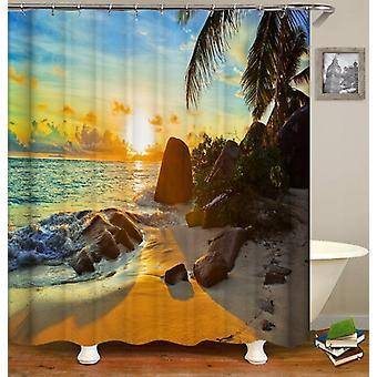 Ocean View Sunset Shower Curtain