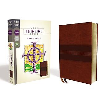 NRSV Thinline Bible Large Print Leathersoft Brown Comfo