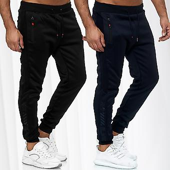 Men's Trackpants Jogging Trousers Long Activewear Fitness Sports Pants Stripes