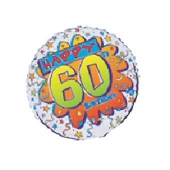 Folie ballon gelukkig 60e verjaardag Bang 18