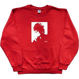 Bob Dylan Cigarette Design Red Sweatshirt