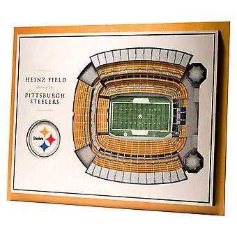 YouTheFan Wood Wall Decoration Stadium Pittsburgh Steelers 43x33cm