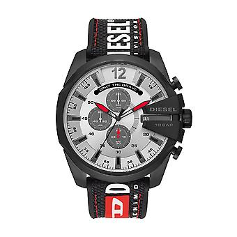 Diesel Uhr MEGA CHIEF DZ4512 - Dateur Nylon Armband Schwarz Bo Tier Stahl Schwarz Männer