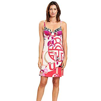 Féraud 3205055-16571 Women's Multicoloured Letters Non-Padded Underwired Beach Dress