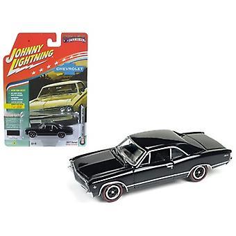 1967 Chevrolet Chevelle Gloss Black \Muscle Cars USA\ 1/64 Diecast Model Car by Johnny Lightning