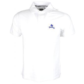 Money Clothing Sig Ape Rubberised Logo White Polo Shirt