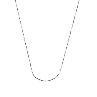 10k White Gold 0.85mm Light Weight Rope Chain Necklace Lobster Claw Closure Jewelry Gifts for Women - Length: 16 to 20